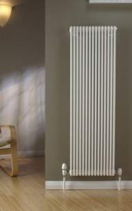The Radiator Company Towel Warmers and Decorative Rads -  Trc 16 Single Vertical 910 X 378 White