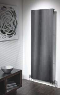 The Radiator Company Towel Warmers and Decorative Rads -  Trim Single Vertical 1600 X 344 White