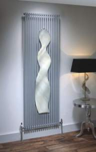 The Radiator Company Towel Warmers and Decorative Rads -  Vision 25 Doub 1700 X 440 With Mirror A Wh
