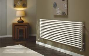 The Radiator Company Towel Warmers and Decorative Rads -  Volcano Db Hz 1471x600inc. Brackets