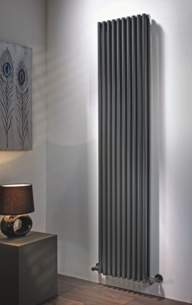 The Radiator Company Towel Warmers and Decorative Rads -  Volcano Sg Vt 1971x400 Inc Brackets Ral
