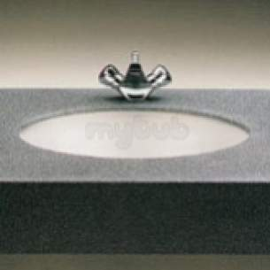 Twyfords Commercial Sanitaryware -  Aria Wb3050 475x400mm No Tap Holes Basin White Wb3050wh