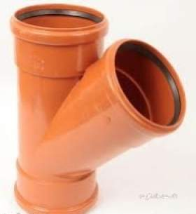 Polypipe Underground Drainage -  160mm X 45deg Junction Tr.socket Ug605