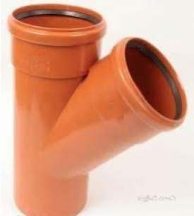 Polypipe Underground Drainage -  110mm X 45deg Junction D/s Plus Spig Ug406