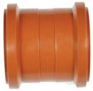 Polypipe Underground Drainage -  200mm Double Socket Coupler Ug801
