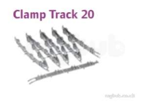 Uponor Underfloor Heating -  Uponor Clamp Track 20 50mm X 0.6m