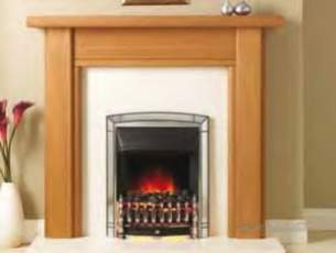 Valor Electric Fires -  Valor Clarissa Mantel Oak Finish