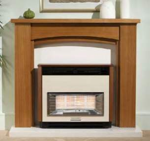 Valor Gas Fires and Wall Heaters -  Valor Brava Fireslide Mahogany 0534831