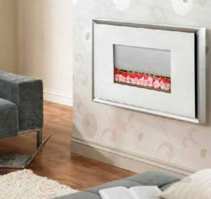 Valor Electric Fires -  Valor Glamour Electric Fire White/ssteel