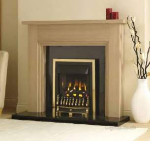 Valor Electric Fires -  Valor Blenheim Slimline Homeflame Brass
