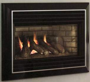 Valor Gas Fires and Wall Heaters -  Valor Homeflame Eminence Black Gas Fire