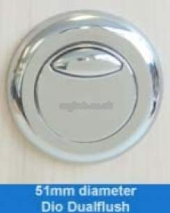 Thomas Dudley Cisterns -  Dudley Dio Df Pbutton Vantage Cistern Cp 51mm Dia