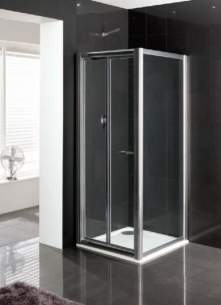 Eastbrook Showers -  Cotswold Vantage 1000mm Bi-fold Silver