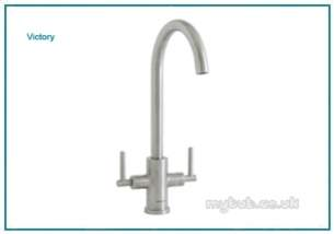 Astracast Brassware -  Victory Tp0702 Twin Lever Monobloc Ss