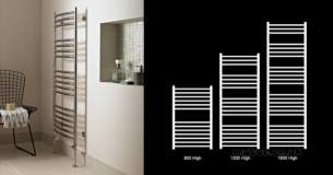 Vogue Uk Towel Warmers -  S/s Curved Ladder Md036 Ss1600600ps