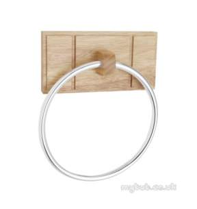 Croydex Bathroom Accessories -  Maine Wa971576 Natural Towel Ring