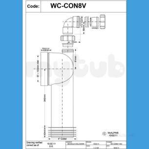 Mcalpine W C Connectors -  Mcalpine Wc-con8v Bossed Wc Connector 90 Deg