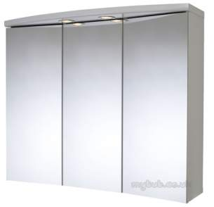 Croydex Bathroom Accessories -  Seine Wc145622e 3 Door Illumin Cabinet