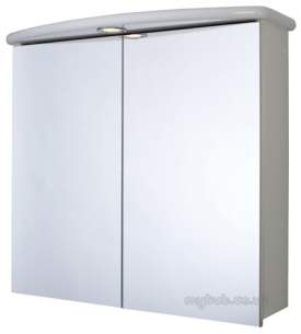 Croydex Bathroom Accessories -  Thames Wc146122e 2 Door Illumin Cabinet
