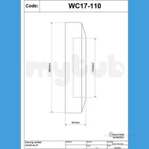 Mcalpine W C Connectors -  Mcalpine Wc Conn Wall Flange Wc17-110