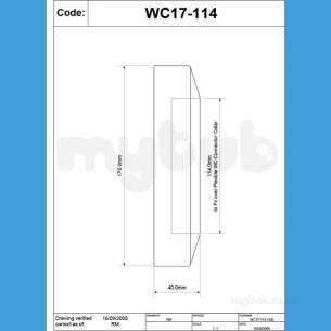 Mcalpine W C Connectors -  Mcalpine Wc Conn Wall Flange Wc17-114