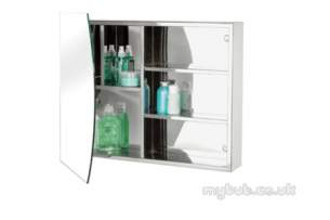 Croydex Bathroom Accessories -  Reflect Wc256505 Arc Mirror Cabinet S/s