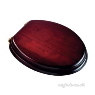 Croydex Bathroom Accessories -  Croydex Solid Wood Toilet Seat Mah/brass