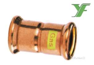 Xpress Copper and Solar Fittings -  Xpress Cu Gas Sg1 Straight Coupling 108