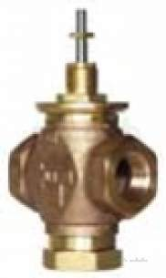 Johnson Linear Plant Brass Trim Valves -  Johnson Vg7000 Series Linear Plant Brass Trim 3 Way Valve Vg7802dt