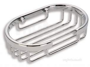 Metal Znojmo Nova Bathroom Accessories -  Nova Wire Line Soap Dish Chrome 6048