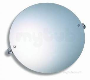 Metal Znojmo Nova Bathroom Accessories -  Nova 1 50cm Round Mirror Chrome Obsolete