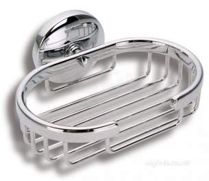 Metal Znojmo Nova Bathroom Accessories -  Nova 1 Shower Soap Tray Chrome 6148