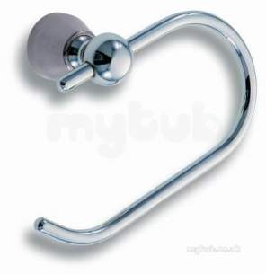 Metal Znojmo Nova Bathroom Accessories -  Nova 3 Toilet Roll Hanger Chrome 6331.0