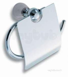 Metal Znojmo Nova Bathroom Accessories -  Nova 3 Toiler Roll Holder Chrome 6338.0
