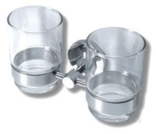 Metal Znojmo Mephisto Bathroom Accessories -  Mephisto Double Mug Holder Chrome 6857