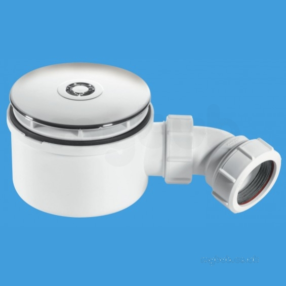 Shower Trap 90mm X 50mm Chrome Plated St90cp10 70 Mcalpine