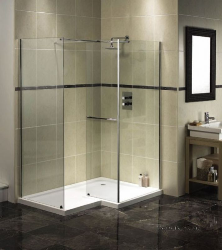 Ftr0215aqu Na Aquaspace Walk-in Right Hand Shower Tray And Footboard ...
