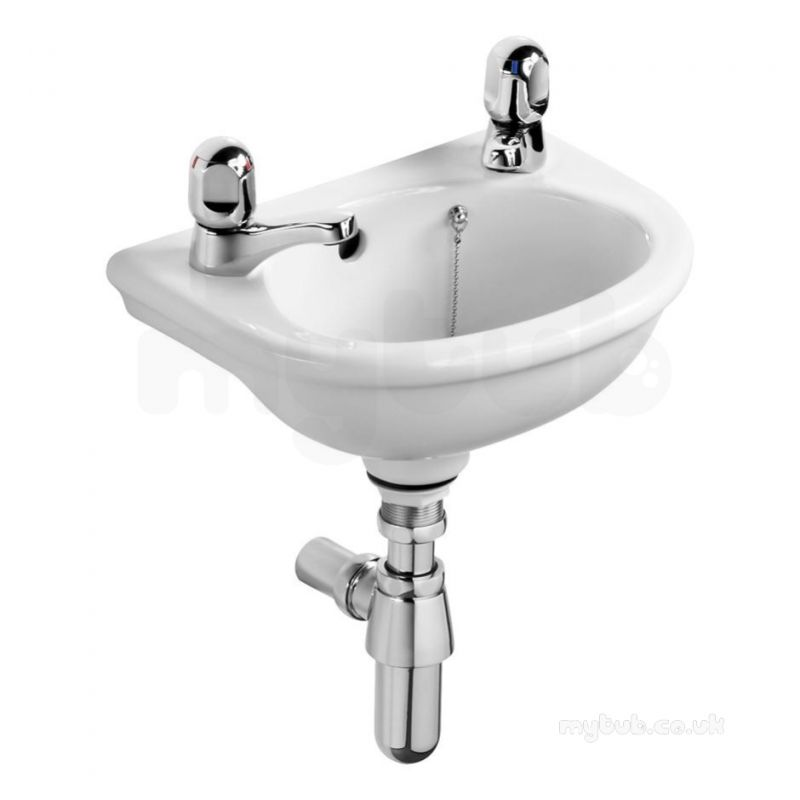 Corner Wash Basin : ... White Sandringham Two Tap Hole Corner Wash Basin : Armitage Shanks