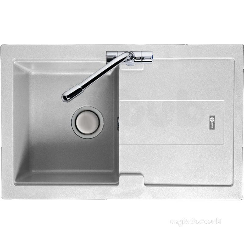 Genial Carron Trade Sinks   Polar White Bali Kitchen Sink Reversible With Compact  Single Bowl And Drainer