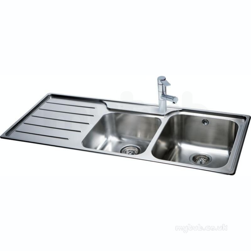 Isis Deep Square Double Bowl Kitchen Sink With Left Hand ...