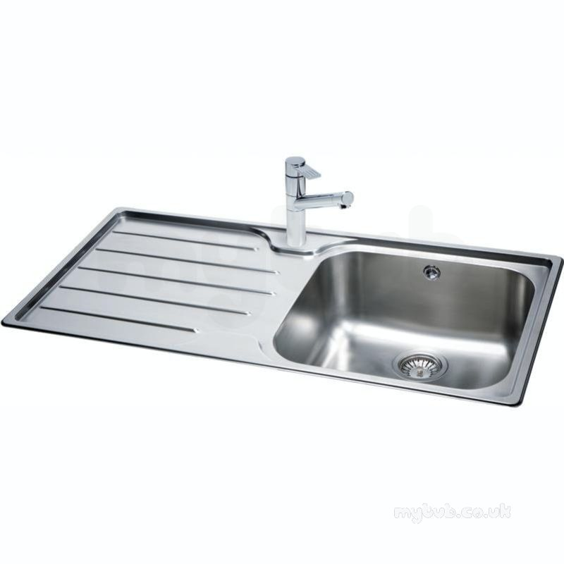 Isis Deep Square Single Bowl Kitchen Sink With Left Hand Drainer ...