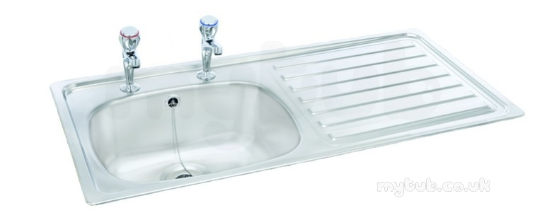 Unisink Inset Two Tap Hole Single Bowl Kitchen Sink With