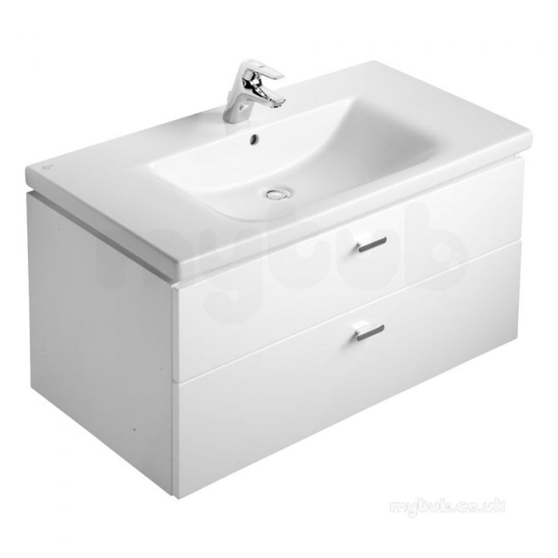 ideal standard concept furniture e6508wg white gloss concept vanity