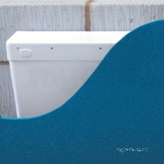 White Mirage Concealed Cistern With Side Inlet Side Outlet