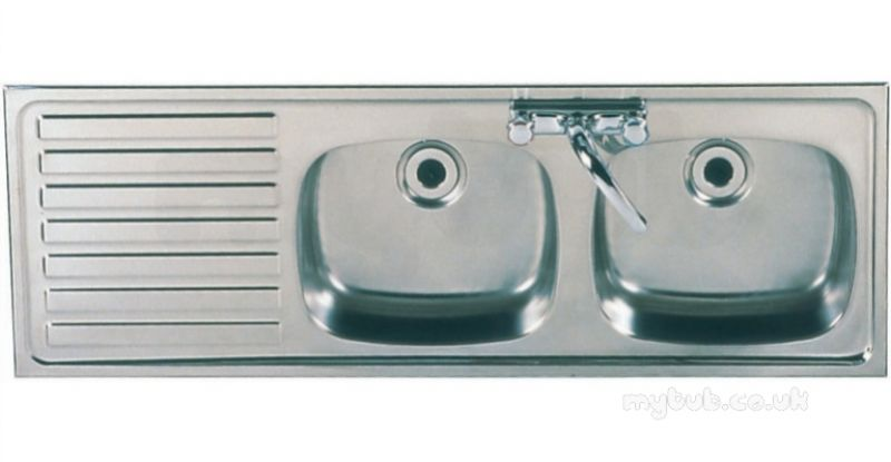 Sissons Stainless Steel Sinks : Sissons Stainless Steel Products - Sissons F0312 Dbsd Lh Inset Sink Ss