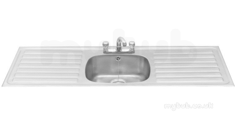 Sissons Stainless Steel Sinks : Sissons Stainless Steel Products - F0311 1395x485 Sbdd Inset Sink Ss