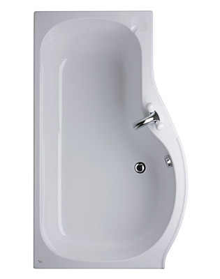 Ideal Standard Space Left Hand Shower Bath Front Panel 1500 White ...